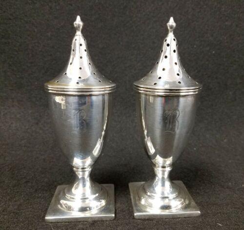 Antique Sterling Silver J.E. Caldwell Salt & Pepper Shakers