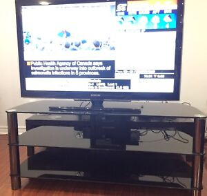 TV with Glass Stand