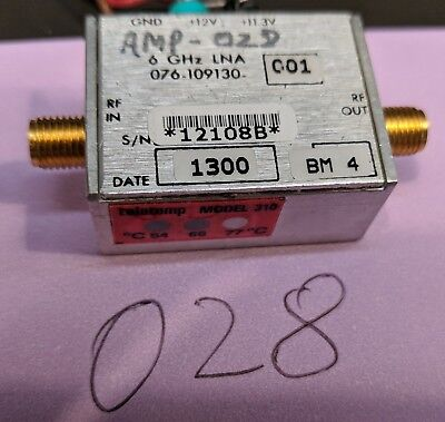 Harris C And X Band Lna 4 To 10 Ghz Amplifier Tested Guaranteed A28