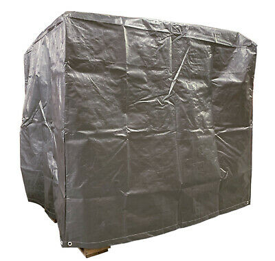 4 Ft. X 5 Ft. X 4 Ft. Heavy Duty Silver Waterproof Poly Pallet Cover - 12 Mil