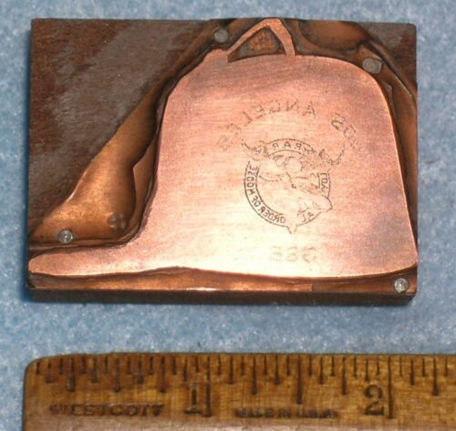 Antique LOS ANGELES No 386 LOYAL ORDER OF MOOSE FEZ Copper Printing Block PB159