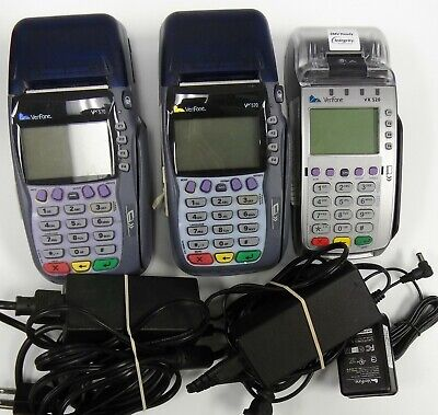 Lot Of 3 - Verifone Credit Card Machines - 2 Vx570  1 Vx520