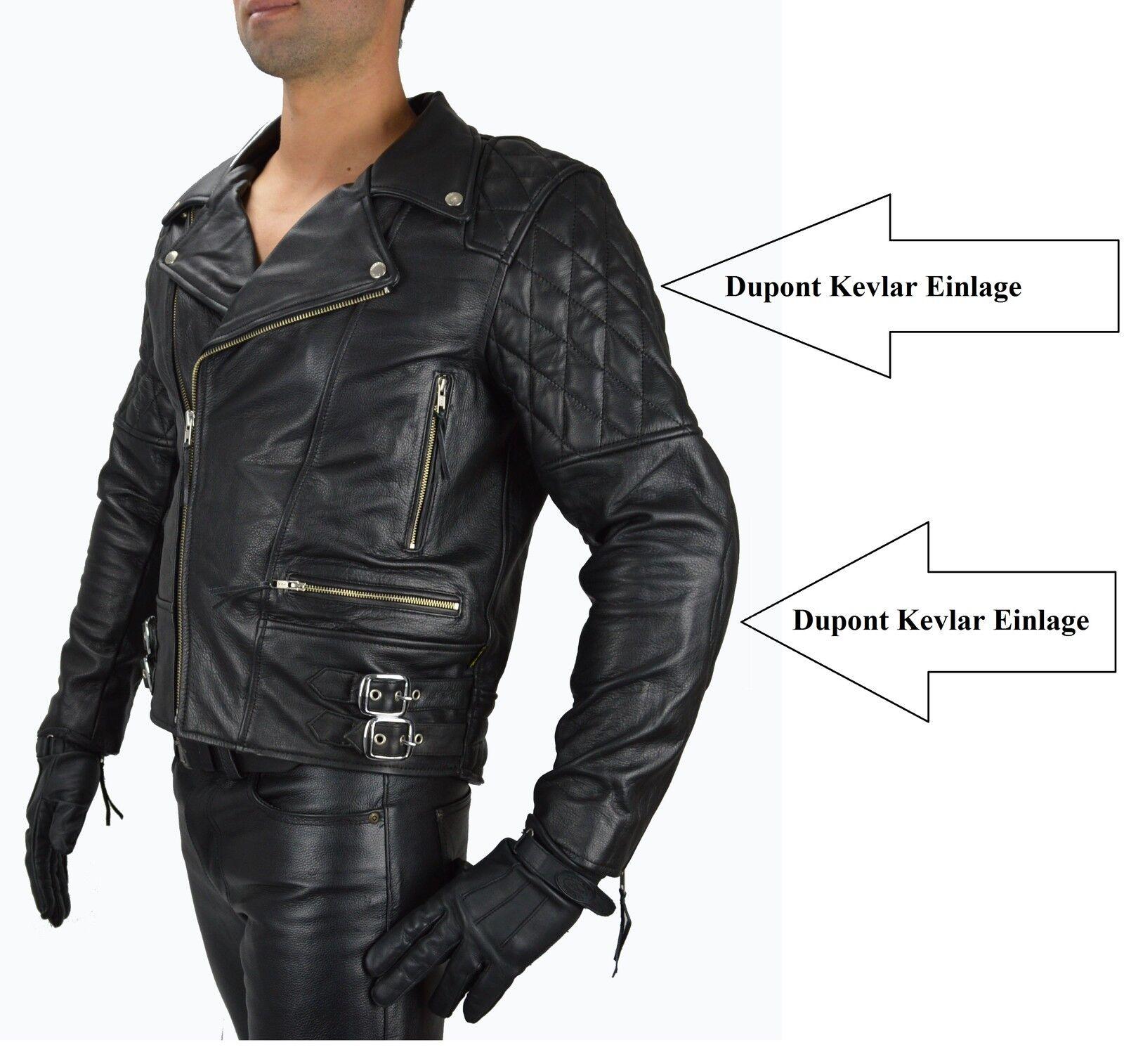 1087 gr l herren leder motorradjacke bikerjacke retro. Black Bedroom Furniture Sets. Home Design Ideas
