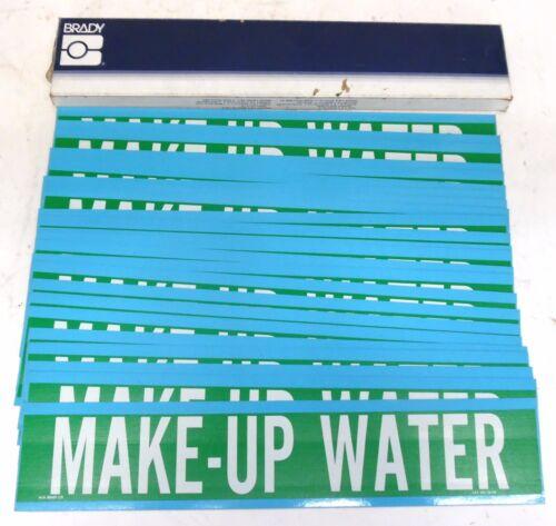 BRADY 36138 MAKE-UP WATER PIPE MARKER, BOX OF 24