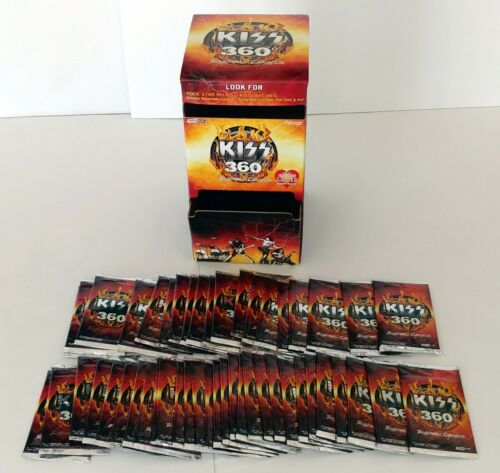 KISS Band 360 Degrees 48 Sealed Card Pack Store Display Dispenser Box Press Pass