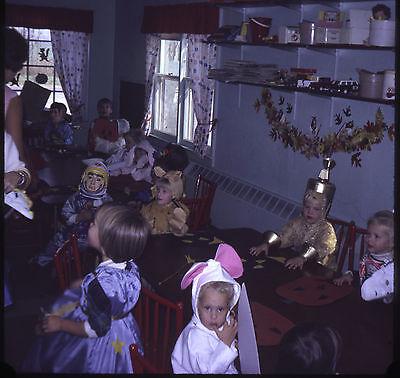 Halloween 35mm Kodachrome Slide Vintage classroom costumes 12 kids October 1968 - Classroom Halloween Costumes