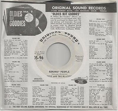 "Nueva Soul / Funk 45 Dyke & The Blazers ""Runaway People"" B/W "" i ' M so Todos """