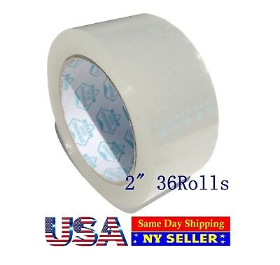 36 Rolls Carton Sealing Clear Box Packing Shipping Tape 2 Inch X 110 Yards