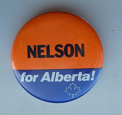 Rare Vote Nelson For Alberta Lapel Button Alberta Canada (Nelson Alberta)