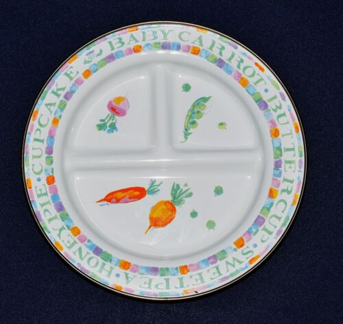 Adorable MacKenzie Childs Enamel Ware 3 Section Divided Childs Plate XLNT