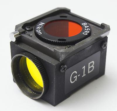 Nikon Green G-1b Dm 580 Fluorescence Filter Cube Microscope Diaphot Optiphot