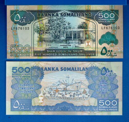Somaliland P-6h 500 Shillings Year 2011 Ships Uncirculated Banknote