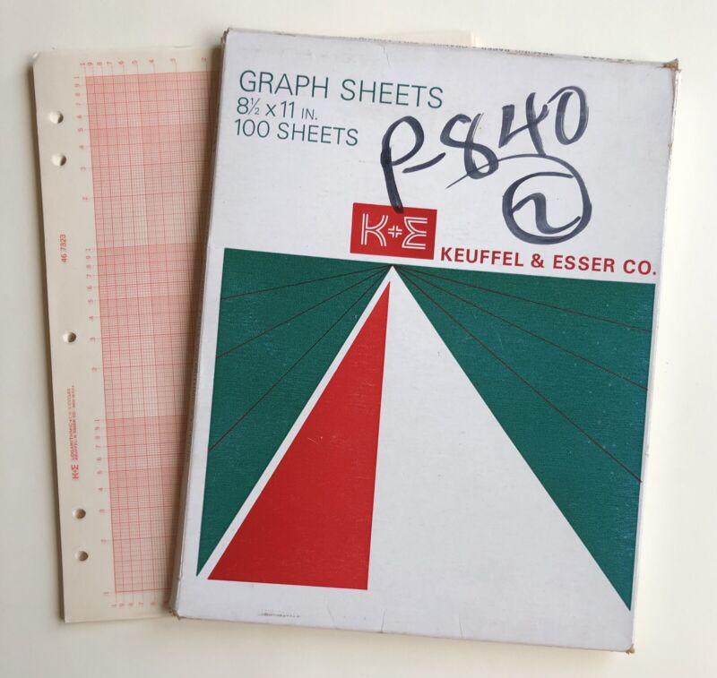Vintage KEUFFEL & ESSER Logarithmic Graph 2X3 Cycles NOS 80 Pages 1966 USA