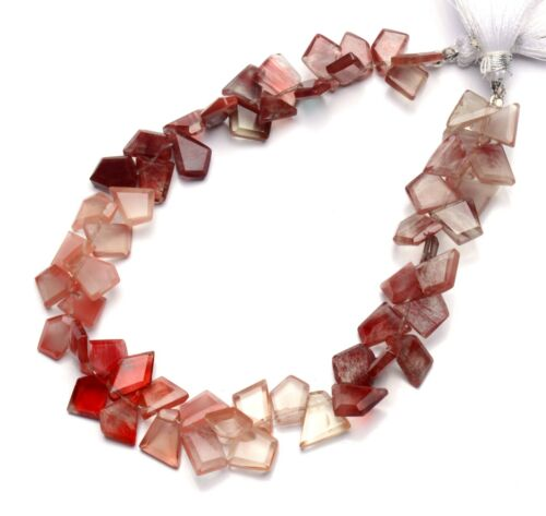 """Natural Gem Andesine Labradorite Faceted Slice Shape Beads 8.5"""" Strand 77Cts."""