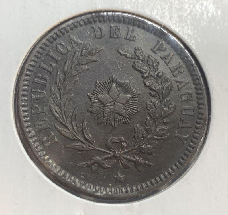 Paraguay 1870 2 Centesimos XF EF KM:3 Mr. C