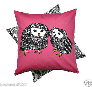 ikea throw pillow cushion cover pink black white owl print covers gulort new ebay. Black Bedroom Furniture Sets. Home Design Ideas