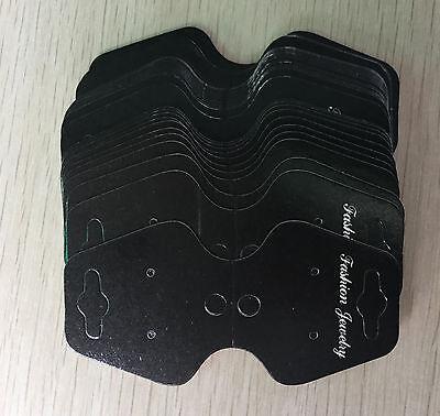 20 piezas Collares/otros accesorios negro tarjeta de papel con estampado letras