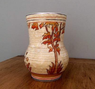 Fine Art Deco CHARLOTTE RHEAD for Crown Ducal SPANISH TREE Tube-lined Vase C1930