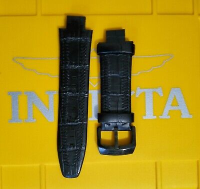 New Invicta Subaqua Noma III Black leather bands