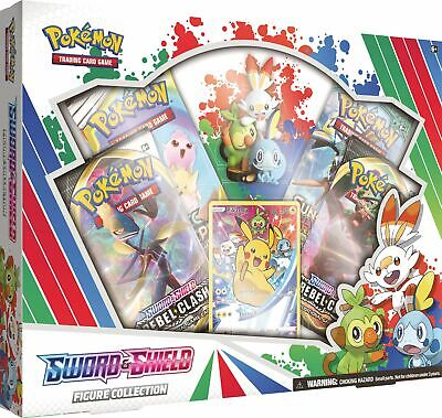 Pokemon TCG Sword & Shield Figure Collection 4 Booster Packs Rebel Clash