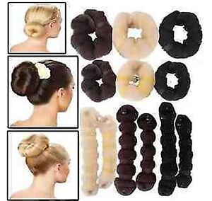 Hot-2pcs-1-large-1-small-Elegant-Casual-Hair-elegant-Magic-Style-Buns-Maker