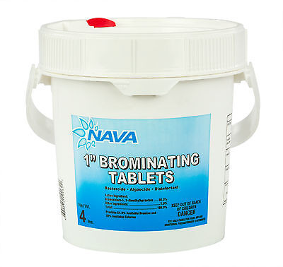 "1"" Inch Swimming Pool & Spa Bromine Sanitizer Tabs Tablets - 4 lbs"