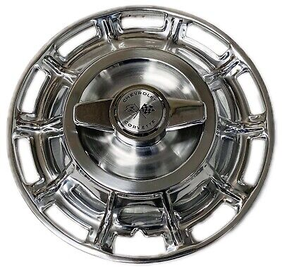1959-1962 Corvette Hubcaps with Spinners Set of 4