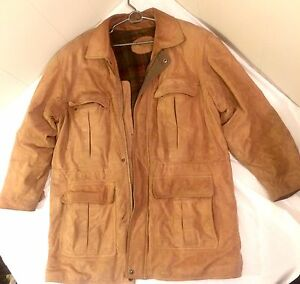 *gone ppu* Men's Med Danier Suede Leather Coat