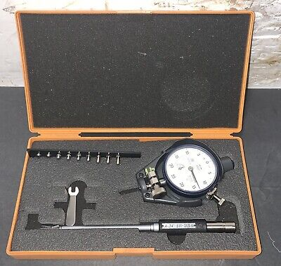 Mitutoyo Dial Bore Gauge Small Holes 511-207 .4-.74 .0005 Machinist Used