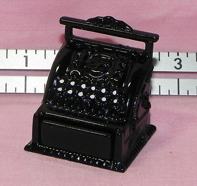 Dollhouse Miniature Cash Register Black Metal Multi Minis 1:12 Scale