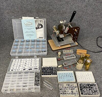 Veach Hot Foil Stamping Machine Gs-703 W 3 Font Type Sets Gold Foil Extras