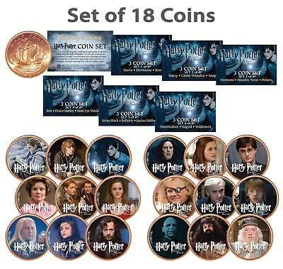 HARRY POTTER Deathly Hallows Colorized UK British Halfpenny ULTIMATE 18-Coin Set, usado comprar usado  Enviando para Brazil