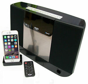 bush bluetooth cd micro hifi with radio alarm clock dock for iphone 5. Black Bedroom Furniture Sets. Home Design Ideas