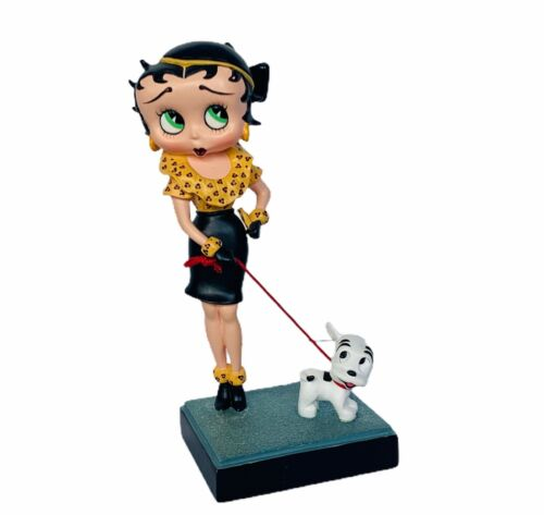 Betty Boop figurine vtg Danbury Mint Out for Stroll pudgy dog walk collector pup