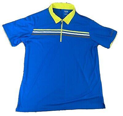 Men's Blue Adidas Golf Polo Shirt Size XXL 2XL