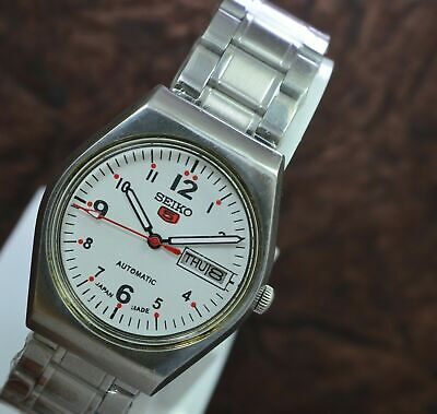 Vintage Seiko 5 Day Date 17 Jewels 6309 Automatic Movement Men's Wrist Watch