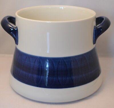 Vintage Rorstrand Sweden White & Blue Koka Bean Pot Without Lid 16cm Flameproof