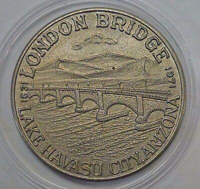 {BJSTAMPS}1971-72  London Bridge Rotary Lake Havasu City AZ  FIRST Havasu Dollar
