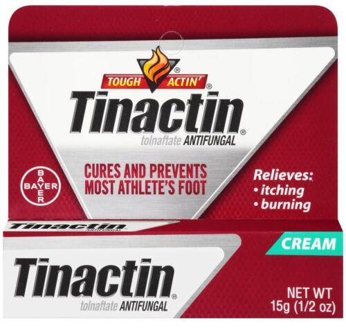 2 TUBES - TINACTIN ANTIFUNGAL FOR ATHLETE'S FOOT CREAM - 1/2