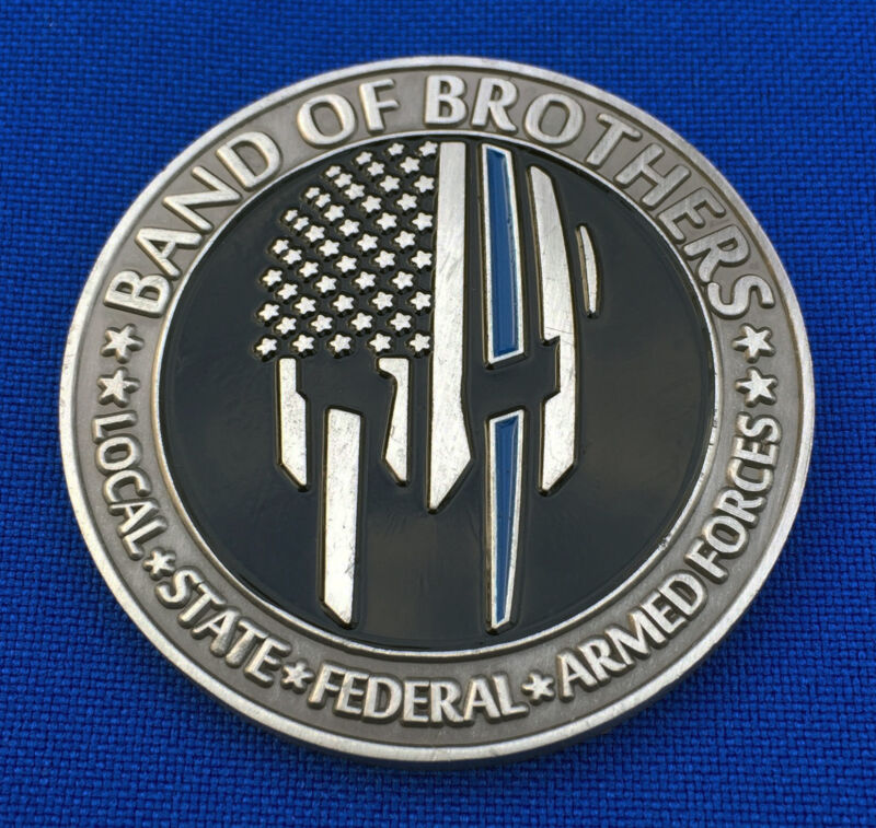 Band of Brothers - Local State Federal Miltary LEO - Police Pride Challenge Coin