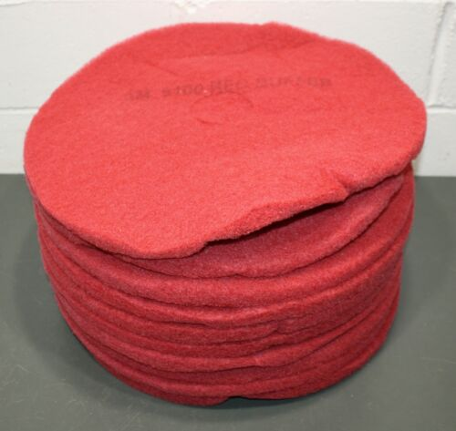 """(10) 3M Buffing & Cleaning Pad 5100, 20"""" Diameter, Non-Woven Polyester, Red"""