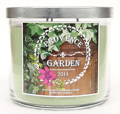 1 Bath & Heart Works PROVENCE GARDEN 2014 3-Wick Candle 14.5 oz