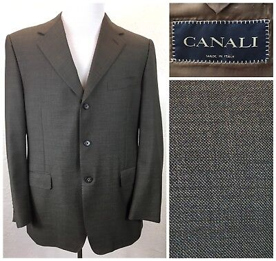 #S34 Canali 42R Italy 100% Wool Super 120 Brown Sport Coat Jacket Dual Vent