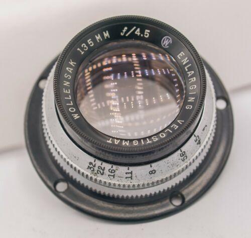 Wollensak Enlarging Velostigmat 135mm F4.5 M41 Screw Lens For Camera Adaptation