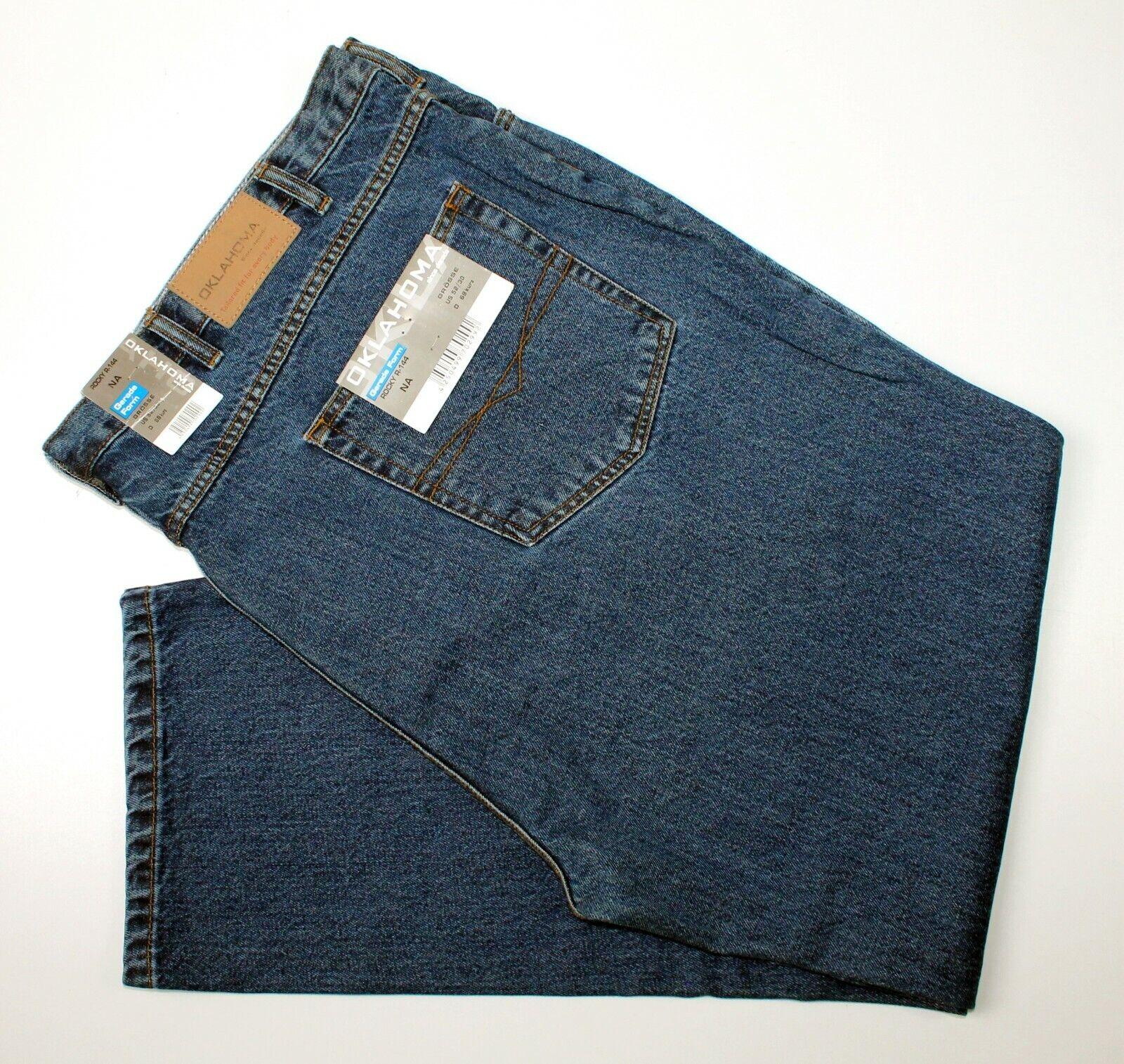 OKLAHOMA ROCKY R-144 Gerade Form Herren Jeans Gr. 68 kurz W 52  L 30 NEU
