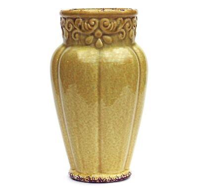 Yellow Nouveau Vase