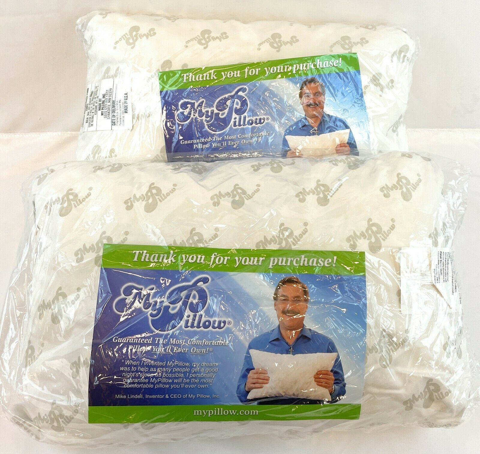 Set Of 2 MY PILLOW Small Travel Size Pillow 12 X 18 White  - $34.99
