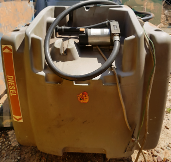 600l diesel tank with pump and hose
