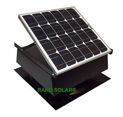 Rand Solar Powered Attic Fan-30 Watt-W Roof Top Ventilator NEW!! 1990 CFM 30w