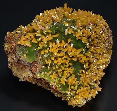 Wulfenite on Mimetite, Ojuela Mine, Mapimi, Durango, Mexico 807007